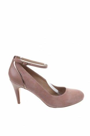 Дамски обувки Pier One, Размер 42, Цвят Розов, Естествен велур, естествена кожа, Цена 44,69лв.