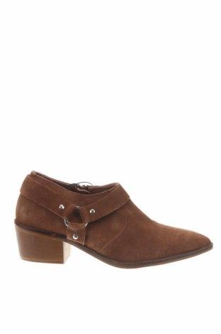 Дамски обувки Reserved, Размер 39, Цвят Кафяв, Естествен велур, Цена 36,57лв.