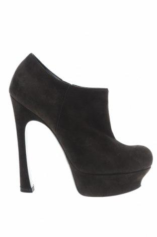 Дамски обувки Yves Saint Laurent, Размер 38, Цвят Зелен, Естествен велур, Цена 131,20лв.