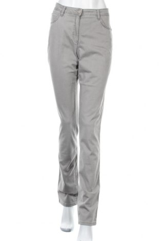 Дамски панталон Brax, Размер M, Цвят Сив, 96% памук, 4% еластан, Цена 26,82лв.