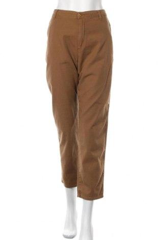 Дамски панталон Carhartt, Размер L, Цвят Кафяв, 97% памук, 3% еластан, Цена 30,42лв.