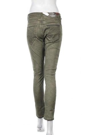 Дамски панталон Cipo & Baxx, Размер S, Цвят Зелен, 98% памук, 2% еластан, Цена 23,80лв.
