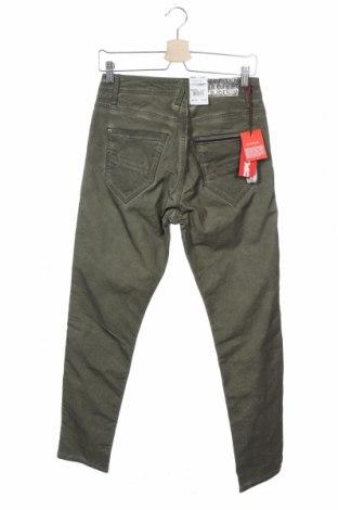 Дамски панталон Cipo & Baxx, Размер S, Цвят Зелен, 98% памук, 2% еластан, Цена 21,42лв.