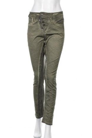 Дамски панталон Cipo & Baxx, Размер XS, Цвят Зелен, 98% памук, 2% еластан, Цена 23,80лв.