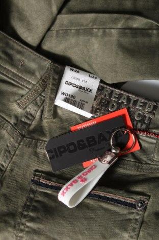 Дамски панталон Cipo & Baxx, Размер XS, Цвят Зелен, 98% памук, 2% еластан, Цена 21,42лв.