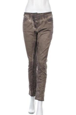 Дамски панталон Cipo & Baxx, Размер M, Цвят Кафяв, 98% памук, 2% еластан, Цена 59,50лв.