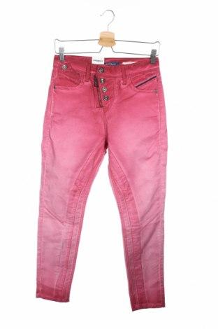 Дамски панталон Cipo & Baxx, Размер XS, Цвят Розов, 98% памук, 2% еластан, Цена 59,50лв.
