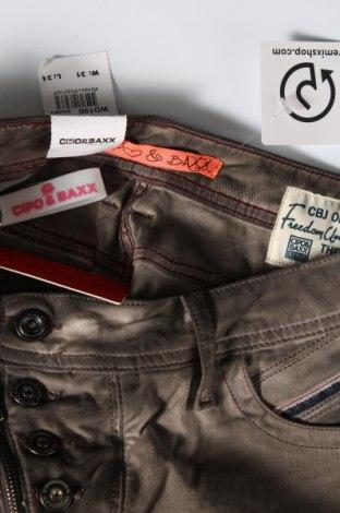 Дамски панталон Cipo & Baxx, Размер L, Цвят Кафяв, 98% памук, 2% еластан, Цена 21,42лв.