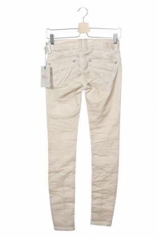 Дамски панталон Gang, Размер XXS, Цвят Бежов, 60% лиосел, 38% памук, 2% еластан, Цена 15,90лв.