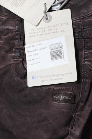 Дамски панталон Gang, Размер XS, Цвят Лилав, 60% лиосел, 38% памук, 2% еластан, Цена 28,62лв.