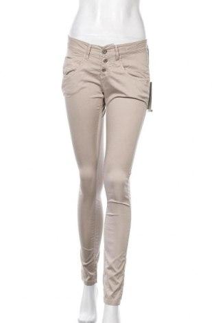 Дамски панталон Gang, Размер S, Цвят Бежов, 98% лиосел, 2% еластан, Цена 12,72лв.