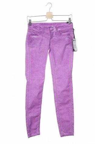 Дамски панталон Gang, Размер XS, Цвят Лилав, 98% памук, 2% еластан, Цена 44,52лв.