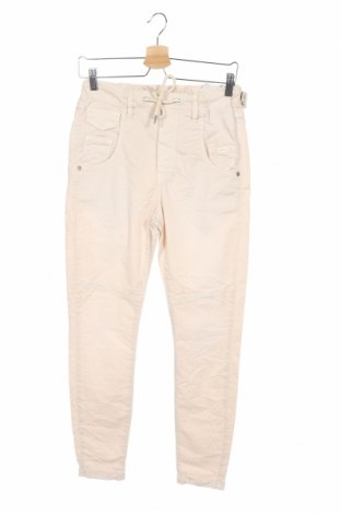 Дамски панталон Gang, Размер XS, Цвят Бежов, 97% памук, 3% еластан, Цена 11,13лв.