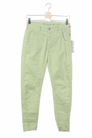 Дамски панталон Gang, Размер XS, Цвят Зелен, 97% памук, 3% еластан, Цена 15,90лв.