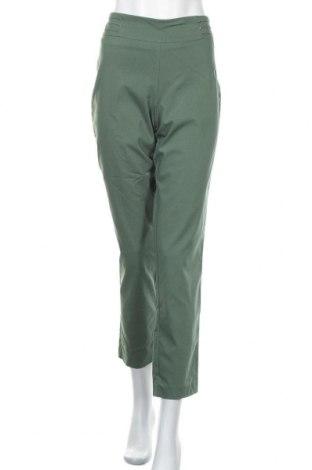 Дамски панталон Jm Collection, Размер M, Цвят Зелен, 75% вискоза, 22% полиамид, 3% еластан, Цена 10,29лв.