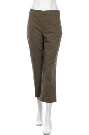 Дамски панталон Odeeh, Размер L, Цвят Зелен, 75% памук, 22% лиосел, 3% еластан, Цена 104,25лв.
