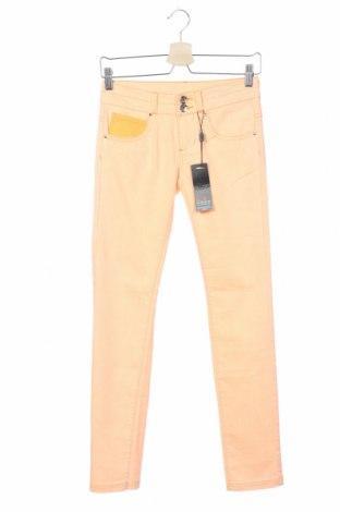 Дамски панталон Outfitters Nation, Размер XS, Цвят Оранжев, 70% памук, 28% полиестер, 2% еластан, Цена 34,50лв.