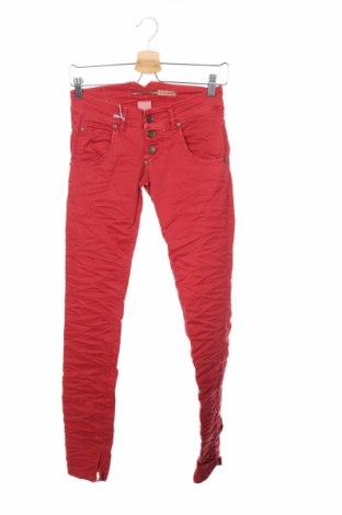 Γυναικείο παντελόνι Please, Μέγεθος XXS, Χρώμα Κόκκινο, 98% βαμβάκι, 2% ελαστάνη, Τιμή 8,20€