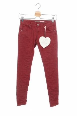 Дамски панталон Please, Размер XS, Цвят Червен, 67% памук, 29% полиестер, 4% еластан, Цена 19,08лв.
