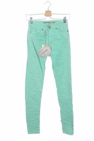 Γυναικείο παντελόνι Please, Μέγεθος XS, Χρώμα Πράσινο, 63% βαμβάκι, 33% πολυεστέρας, 4% ελαστάνη, Τιμή 8,20€