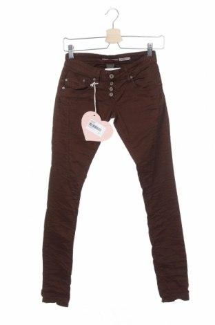 Pantaloni de femei Please, Mărime XXS, Culoare Maro, 98% bumbac, 2% elastan, Preț 52,30 Lei