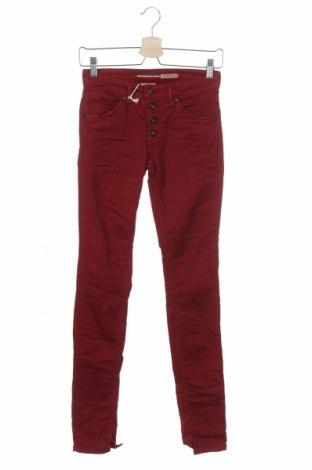 Дамски панталон Please, Размер XXS, Цвят Червен, 97% памук, 3% еластан, Цена 28,62лв.