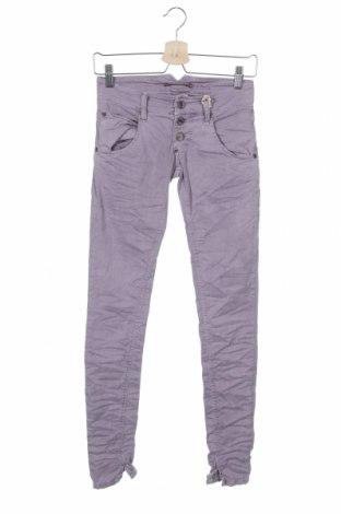 Дамски панталон Please, Размер XXS, Цвят Лилав, 97% памук, 3% еластан, Цена 119,25лв.