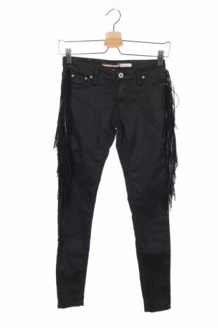 Дамски панталон Please, Размер XS, Цвят Черен, 55% памук, 38% полиестер, 7% еластан, Цена 28,62лв.