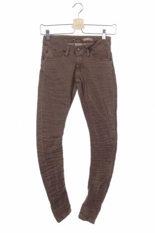 Дамски панталон Please, Размер XXS, Цвят Кафяв, 97% памук, 3% еластан, Цена 15,90лв.