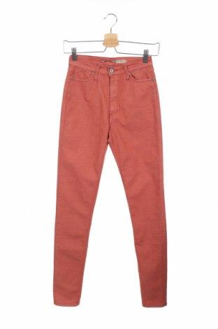 Дамски дънки Please, Размер XS, Цвят Червен, 63% памук, 33% полиестер, 4% еластан, Цена 17,88лв.