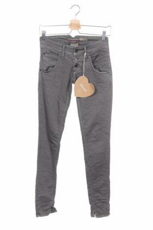 Γυναικείο παντελόνι Please, Μέγεθος XXS, Χρώμα Γκρί, 97% βαμβάκι, 2% ελαστάνη, Τιμή 5,74€