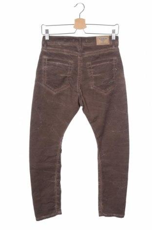 Дамски панталон Please, Размер XS, Цвят Кафяв, 98% памук, 2% еластан, Цена 28,62лв.