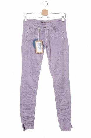 Дамски панталон Please, Размер XS, Цвят Лилав, 98% памук, 2% еластан, Цена 15,90лв.