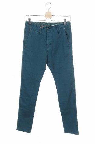 Дамски панталон Please, Размер XS, Цвят Син, 97% памук, 3% еластан, Цена 13,90лв.