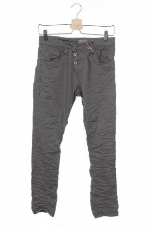 Дамски панталон Please, Размер XXS, Цвят Сив, 98% памук, 2% еластан, Цена 28,62лв.