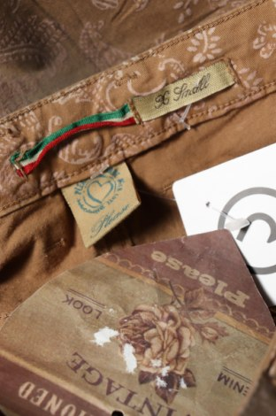 Дамски панталон Please, Размер XS, Цвят Кафяв, 98% памук, 2% еластан, Цена 16,90лв.