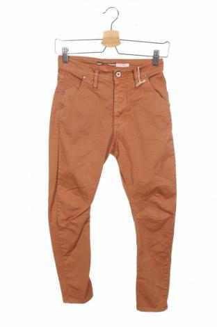 Дамски панталон Please, Размер XXS, Цвят Кафяв, 98% памук, 2% еластан, Цена 28,62лв.