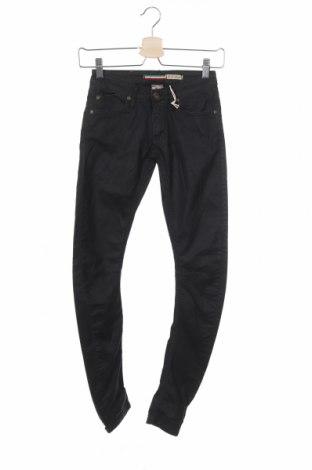 Дамски панталон Please, Размер XXS, Цвят Черен, 55% памук, 38% полиестер, 7% еластан, Цена 19,08лв.