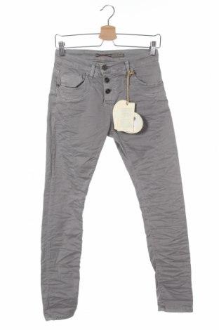 Дамски панталон Please, Размер XXS, Цвят Сив, 98% памук, 2% еластан, Цена 12,72лв.