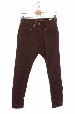 Pantaloni de femei Please, Mărime XXS, Culoare Maro, 98% bumbac, 2% elastan, Preț 49,33 Lei