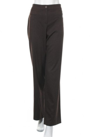 Дамски панталон Wissmach, Размер XL, Цвят Кафяв, 64% полиестер, 34% вискоза, 2% еластан, Цена 29,40лв.