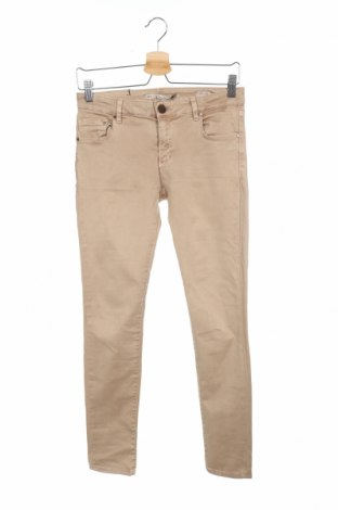 Дамски панталон Zara, Размер S, Цвят Бежов, 98% памук, 2% еластан, Цена 8,82лв.