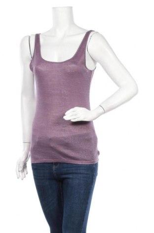 Γυναικείο αμάνικο μπλουζάκι Massimo Dutti, Μέγεθος S, Χρώμα Βιολετί, Λινό, Τιμή 18,32€