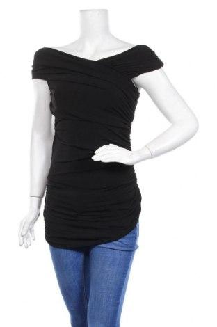 Дамска блуза Nicole Miller, Размер S, Цвят Черен, 95% полиестер, 5% еластан, Цена 9,98лв.