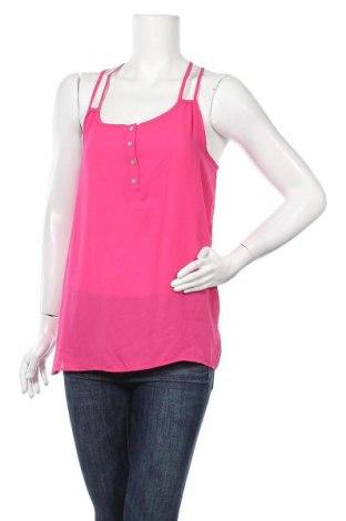 Γυναικείο αμάνικο μπλουζάκι Pink Rose, Μέγεθος L, Χρώμα Ρόζ , 100% πολυεστέρας, Τιμή 4,87€