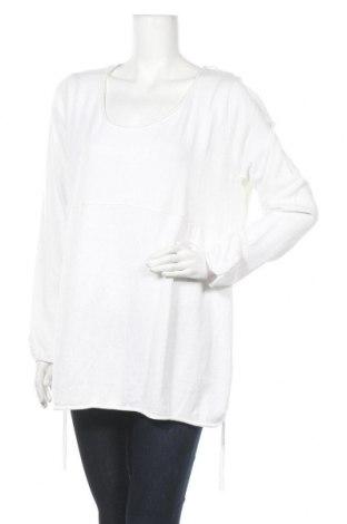 Дамски пуловер, Размер XXL, Цвят Бял, 60% вискоза, 40% памук, Цена 8,93лв.