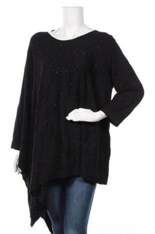 Γυναικείο πουλόβερ Anne Klein, Μέγεθος 3XL, Χρώμα Μαύρο, 54% βαμβάκι, 41% βισκόζη, Τιμή 28,90€