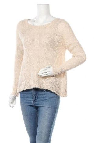 Γυναικείο πουλόβερ H&M, Μέγεθος S, Χρώμα  Μπέζ, 39%ακρυλικό, 30% μαλλί, 16% μοχαίρ, 15% πολυαμίδη, Τιμή 10,91€