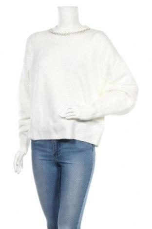 Γυναικείο πουλόβερ H&M, Μέγεθος XS, Χρώμα Λευκό, 52% πολυεστέρας, 41%ακρυλικό, 4% μαλλί, 3% ελαστάνη, Τιμή 30,31€