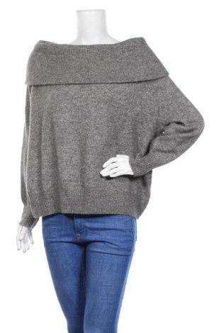 Дамски пуловер H&M, Размер L, Цвят Сив, 55% полиестер, 38% акрил, 4% вълна, 3% еластан, Цена 23,04лв.